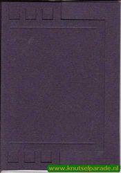 Lomiac stanskaarten zigzag met rechthoek blauw A6 5 stuks LC2141 (Locatie: Q045)