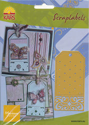 Marianne Design snij- embos- borduurmal Scraplabels SL0814 (Locatie: S086)
