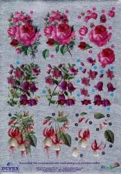 Metallic knipvel bloemen nr.111742111 (Locatie: 4501)