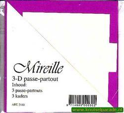 Mireille vierkante kaart lila 3 stuks 2110 (Locatie: D88 )
