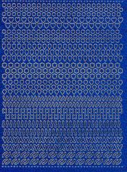 Multi dots sticker holografisch blauw (Locatie: 0201)