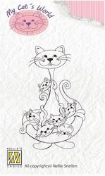 Nellie Snellen Clear Stamps My Cat´s World babysitter CW003 (Locatie: NN033)