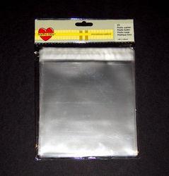 Plastic zakken 14,9x14,9 cm. met plakstrip van Hartho-bby 25 st. nr.64004 (Locatie: 1RC2)