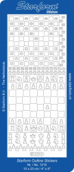 Starform dam- en schaakspel goud 1219 (Locatie: g095)