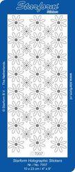 Starform sticker bloemen transparant glitter zilver nr. 7007 (Locatie: G037 )