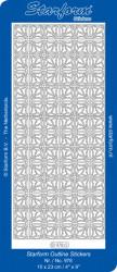 Starform sticker kerst zilver 978 (Locatie: U349)