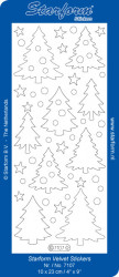 Starform sticker kerstbomen velvet wit 7107 (Locatie: C300)