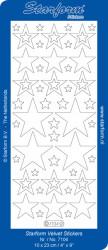 Starform sticker kerststerren velvet rood 7104 (Locatie: C309)