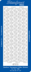Starform sticker transparant glitter zilver 7080 (Locatie: J524)