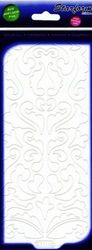 Starform sticker velvet barok krullen white 7111 (Locatie: B364 )
