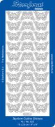 Starform sticker vlinders goud 822 (Locatie: K061)