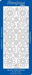 Starform sticker wit bloemen 1125 (Locatie: J336 )