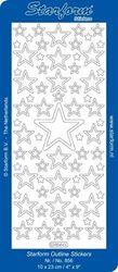 Starform sticker zilver kerst 856 (Locatie: U378)