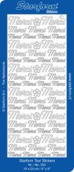 Starform sticker zilver Merci 503 (Locatie: F154)