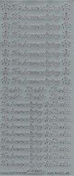 Starform sticker zilver tekst Ter bemoediging 4204 (Locatie: H418 )