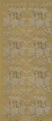 Starform stickervel kerstkaarsen goud 862 (Locatie: bb136)