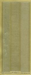 Starform stickervel lijnen goud 1016 (Locatie:U041)