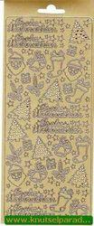 Sticker goud frohe weinachten 3635 (Locatie: H261 )