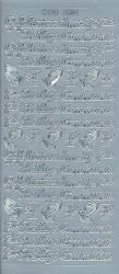 Stickervel communie zilver DD1034 (Locatie: B059)