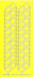 Stickervel geel/zilver nr. 3012 (Locatie: K166 )