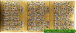 Stickervel goud deutsche teksten 9607 (Locatie: U282 )