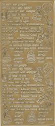 Stickervel goud geboorte 2110 (Locatie: F178)