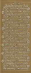 Stickervel goud Gute Besserung DD3501 (Locatie: A035)