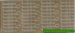 Stickervel goud Invitation nr.2605 (Locatie: E189 )