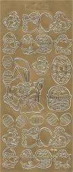 Stickervel goud pasen (Locatie: t068)