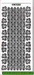 Stickervel hoekjes/rand transparant zilver MD 35 65 64 (Locatie: ZZ030 )