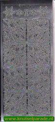 Stickervel hoekjes/rand zilver DD 7093 (Locatie: ZZ023 )