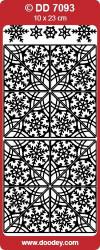 Stickervel hoekjes/rand zilver DD7093 (Locatie: ZZ023 )