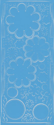 Stickervel lichtblauw bloemen 0400 (Locatie: J538)