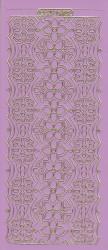Stickervel lila/goud XP6902 (Locatie: K101)