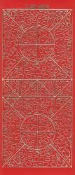 Stickervel rood/goud XP6874 (Locatie: K091)