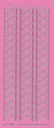 Stickervel roze/zilver nr. 3019 (Locatie: K133)