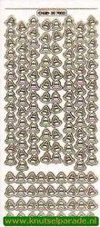 Stickervel transparant goud kerst MD357032 (Locatie: U140 )