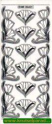 Stickervel transparant zilver bloemen MD356531 (Locatie: R046 )