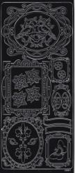 Stickervel zwart kaders 20377/0331 (Locatie: A315 )