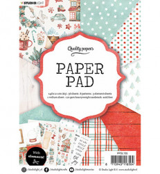 Studio Light A5 Paperpad kerstmis PPSL155