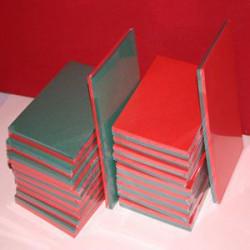 Top Hobby lederlook papier 5 kleuren A5 50 vel nr. KB 120 (Locatie: S2)