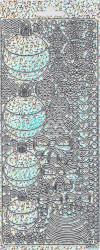 Vaessen Stickervel kerstbal holografisch zilver 20380/043302 (Locatie: N219 )