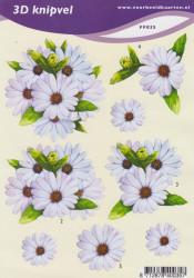 Voorbeeldkaarten knipvel A5 bloemen FF035 (Locatie: 1328)