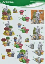 Voorbeeldkaarten knipvel bloemen 2492 (Locatie: 5515)