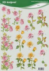 Voorbeeldkaarten knipvel bloemen nr. 2070 (Locatie: 5006)
