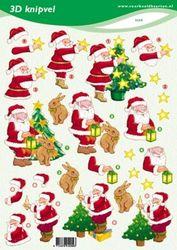 Voorbeeldkaarten knipvel kerst 2299 (Locatie: 6427)