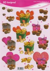 Voorbeeldkaarten knipvel valentijn 2403 (Locatie: 1452)