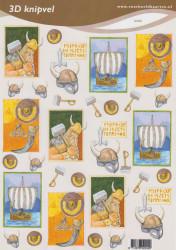 Voorbeeldkaarten knipvel vikings 2242 (Locatie: 1754)