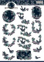 Yvonne Creations knipvel vogels CD11102 (Locatie: 1536)