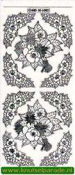 Stickervel transparant zilver bloemen MD356502 (Locatie: R051)